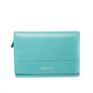 Tiffany & Co. Blue Leather Tri- Fold French Wallet