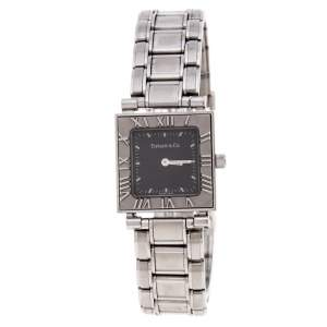 Tiffany & Co. Grey Stainless Steel Atlas 30260324 Women's Wristwatch 23MM