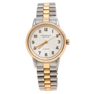 Tiffany & Co. White Stainless Steel CT60® 3-Hand Automatic Women's Wristwatch 34 mm