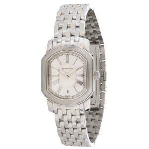 Tiffany & Co. Silver Stainless Steel Mark Coupe Women's Wristwatch 23.5 MM