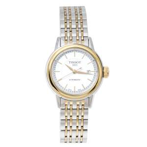 Tissot White Two-Tone Stainless Steel T-Classic Carson T085207A Women's Wristwatch 29 mm