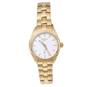 Tissot Silver Gold Tone Stainless Steel PR100 T101210A Women's Wristwatch 33 mm