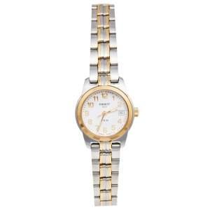 ساعة يد نسائية تيسوت PR50 T34.2.281.14 ستانلس ستيل لونين بيضاء 24 مم