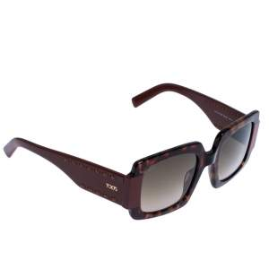 Tod's Burgundy Tortoise Gradient TO 213 Square Sunglasses