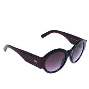 Tod's Burgundy/Black Gradient TO 212 Round Sunglasses