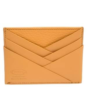 Tod's Orange Leather Card Holder