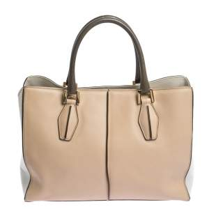 Tod's Tri Color Leather Medium D-Cube Tote