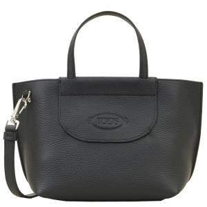 TOD'S Black Leather Mini Shopping Bag
