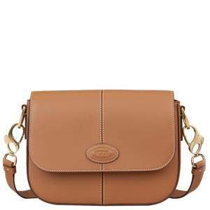 TOD'S Brown Leather Pattina Crossbody Bag
