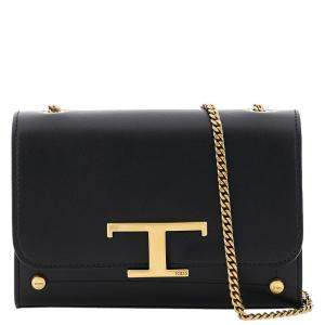 Tod's Black Leather Ritratto Zoe Baby Bag