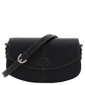 Tod's Black Leather 2020 C-Bag Mini Shoulder Bag