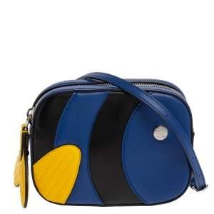 Tod's Blue/Yellow Leather Zoo Fish Camera Crossbody Bag