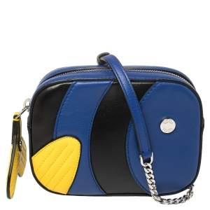 Tod's Tricolor Leather Shark Media Camera Crossbody Bag