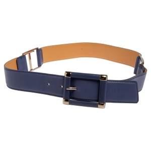 Tod's Purple Leather Buckle Belt 80 CM