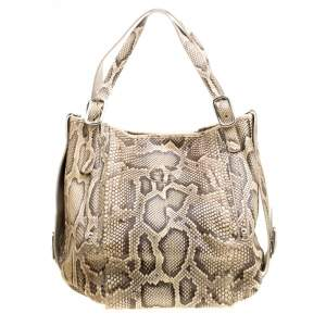 Tod's Beige Python G-Line Easy Sacca Tote