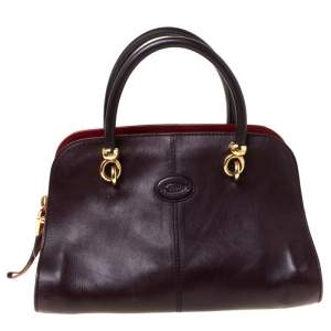 Tods Dark Brown Leather Sella Satchel