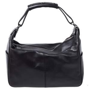Tod's Dark Brown Leather Side Pocket Hobo