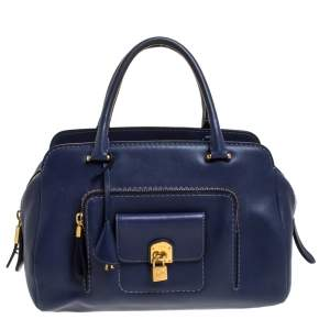 Tod's Blue Leather Medium Kate Media Satchel