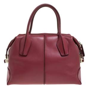 Tod's Fuchsia Leather D-Styling Small Duffle Bag
