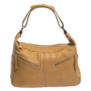 Tod's Light Brown Leather Micky Hobo
