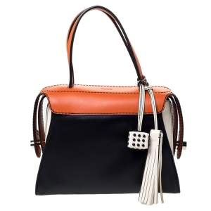 Tod's Tri Color Leather Twist Satchel