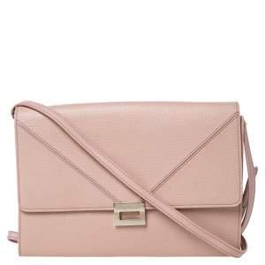 Tod's Beige Leather D-Cube Crossbody Bag