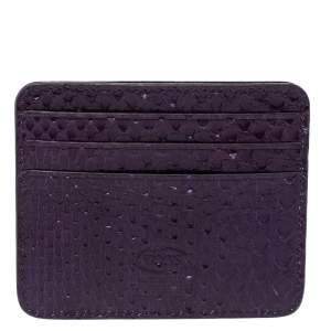 Tod's Purple Python Card Holder