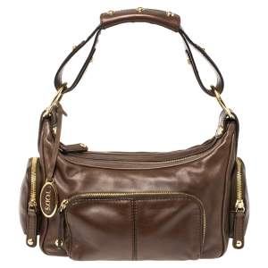 Tod's Brown Leather Multi Pocket Bag