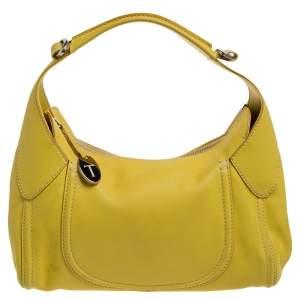 Tod's Yellow Leather Zip Hobo