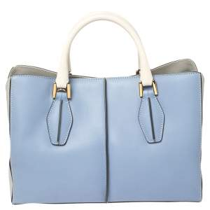 Tod's Tri Color Leather Small D-Cube Tote