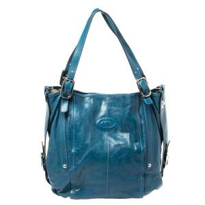 Tod's Blue Leather G-Line Easy Sacca Tote