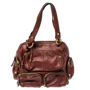 Tod's Brown Leather Multiple Pocket Satchel