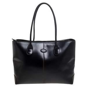 Tod's Dark Brown Leather D-Bag Tote
