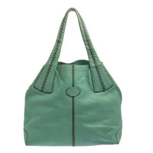 Tod's Mint Green Leather Hobo