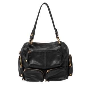 Tod's Black Leather Front Pocket Satchel