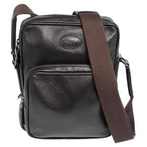 Tod's Brown Leather Front Pocket Messenger Bag