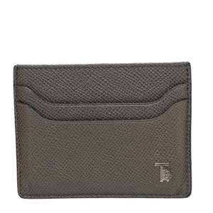 Tod's Grey Leather Card Holder