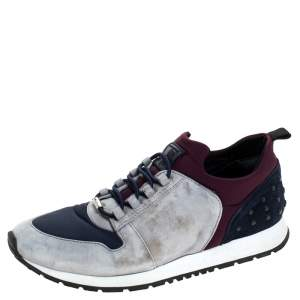 Tod's Multicolor Suede and Nylon Lace Sneakers Size 38