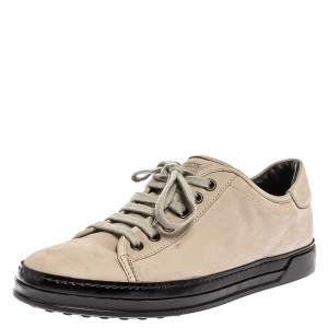 Tod's Grey Nubuck Low Top Lace Sneakers Size 37.5