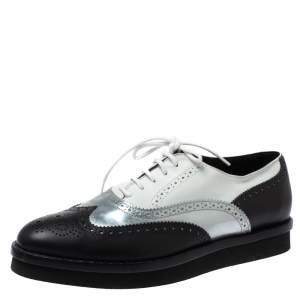 Tod's Tri Color Brogue Leather Lace Up Oxfords Size 38.5