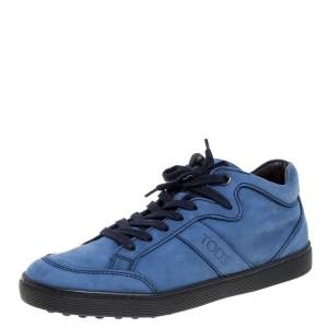 Tod's Blue Suede Low Top Sneakers Size 37