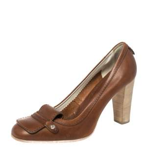 Tod's Brown Leather Loafers Pumps Size 40.5