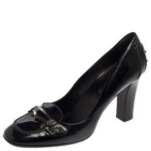 Tod's Blue Patent Leather 'Jodie' Penny Loafer Pumps Size 39