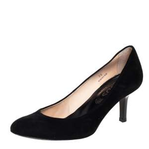 Tod's Black Suede Round Toe Pumps Size 35
