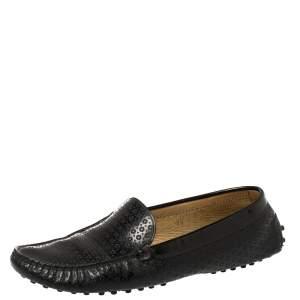 حذاء لوفرز تودز جلد لامع مخرم أسود مقاس 39