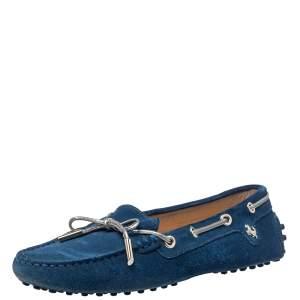 حذاء لوفرز تودز فور فيراري سليب أون فيونكة غومينو سويدي أزرق مقاس 36