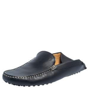 Tod's Black Leather Gommini Loafers Size 39