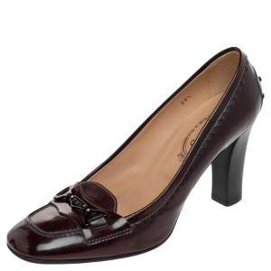 Tod's Burgundy Patent Leather Pumps Size 39.5