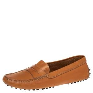 Tod's Brown Leather Penny Loafers Size 37.5
