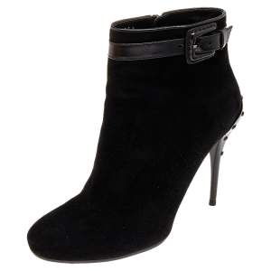 Tod's Black Suede Ankle Boots Size 39.5